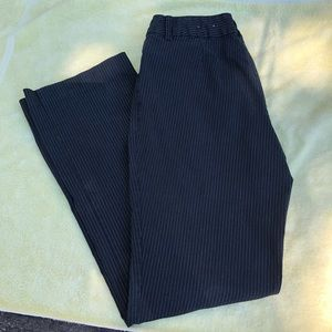 Black Pinstriped Stretch Trousers